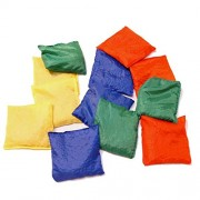 "Dazzling Toys 5"" Assorted Nylon Reinforced Bean Bags - Pack of 12 (D158)"