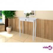 vidaXL Konzolni Stol od MDF Bijeli