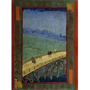 Artifact Puzzles Van Gogh Bridge In The Rain Wooden Jigsaw Puzzle