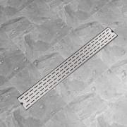 """vidaXL Линеен душ канал, дизайн """"линии"""", 930x140мм, неръждаема стомана"""