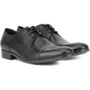 Clarks Conwell Cap Lace Up For Men(Black)