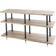 solidsteel VL-3 Three Shelf AV Rack- Walnut