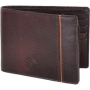 New Tareen Men Casual Brown Genuine Leather Wallet(9 Card Slots)