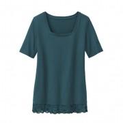 Carré-shirt met kant, jade 36