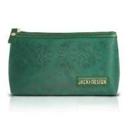 Necessaire de Bolsa Jacki Design Microfibra Estampada - Feminino-Verde