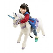 New Girl's Gift Mechanical Ride on Purple Unicorn Simulated Horse Riding on Toy Ride-on Cycle Toys :More Comfortable Riding with Gallop Motion for Kids 3-6 Years