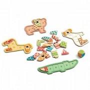 Drewniana gra dla dzieci Bingonimo, układanka zwierzątka 3+ DJECO DJ01661
