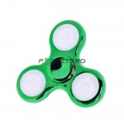 Fidget Spinner Led Metallic Green