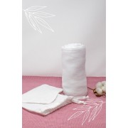 Maxi ultrazachte luier Tencel en biologisch katoen Wit 120 x 120 cm