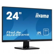 "Монитор Iiyama PROLITE XU2493HS-B1, 23.8"" (60.45 cm) IPS панел, Full HD, 4ms, 5 000 000:1, 250 cd/m2, Display Port, HDMI, VGA"