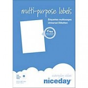 Niceday Etiqueta multifunción Niceday 980472 A4 blanco 210 x 297 mm 100 hojas de 1 etiqueta