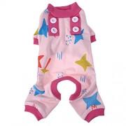 Rrimin Pet Pajamas Pet Hoodie Coat Super Soft Warm Puppy Dog Costume Pink XL
