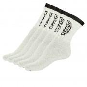 Styx 5PACK ponožky Styx vysoké šedé s černým nápisem (H26363636363) L