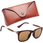 Royce Wayfarer, Retro Square, Rectangular Sunglasses(Brown)
