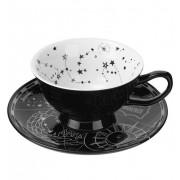 hrnek (set) KILLSTAR - Phoenix Tea & Saucer - BLACK - KSRA001806