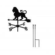 Svens Girouette Lion petit modèle + Mât à planter