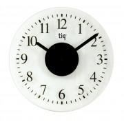 Ceas rotund de perete, D-330mm, cifre arabe, TIQ - sticla transparent mata