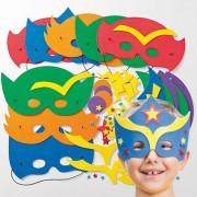Baker Ross Star Hero Foam Mask Bulk Pack - 32 Kits To Make Superhero Masks. Size 23cm-25cm.