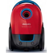Aspirator Philips FC8373/09, cu sac, putere 750 W, vid maxim 17.5 kPa, clasa energetica A, tub telescopic metalic, filtru super air clean, rosu