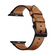 Classic Genuine Leather Watch Replacement Strap for Apple Watch Series 5 4 40mm / Series 3 2 1 38mm - Brown