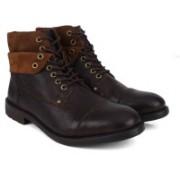 Clarks Faulkner Hi Walnut WLined Boots For Men(Brown)
