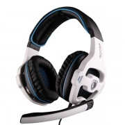 SADES SA-810 Professional Over-Ear Gaming Headphone Headset with Mic - White