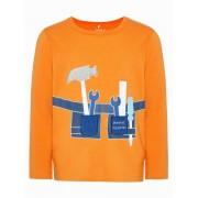 NAME IT Tryckt Långärmad T-shirt Man Orange