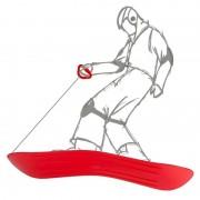 Merkloos Slee rood 69 x 20 x 4 cm