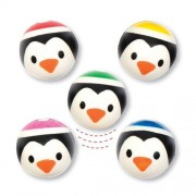 Baker Ross Penguin Bouncy Balls - 10 Super Bouncy Rubber Balls In 6 Assorted Designs. Jet High Bounce Balls. Size 3.2cm.