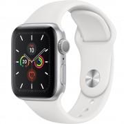 Watch 5 GPS Aluminiu Argintiu 40MM Si Curea Sport Silicon Alba APPLE