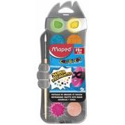 Acuarele + pensula 12 culori/set Color'Peps Maped