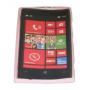 Силиконов гръб ТПУ за Nokia Lumia 925 Розов