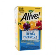ALIVE! ONCE DAILY MENS 50+ MULTI-VITAMIN (Ultra Potency) 60 Tablets