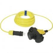 Verlengsnoer 10M PUR kabel 3x1,5mm² 3-voudig geel