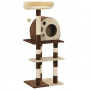 vidaXL Cat Tree with Sisal Scratching Posts 127 cm Beige and Brown