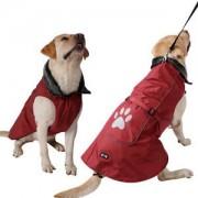 ELECTROPRIME Pet Dog Clothes Puppy Winter Waterproof Nylon Costume Jacket Coat Vest Red M