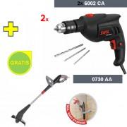 Vibraciona bušilica Skil 6002CA + Električni trimer za travu Skil 0730AA