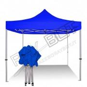ray bot Gazebo pieghevole 3x3 blu professionale senza laterali PVC 350g