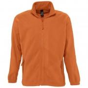 Sols Oranje fleece vest met hele rits