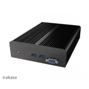 Carcasa AKASA Intel NUC Newton D3 Fanless Suport 2.5 HDD/SSD Negru