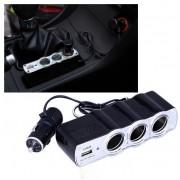 Bricheta auto priza tripla cu USB Eficienta Garantata