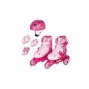 Patins Ajustável Tri-line Com Acessórios Rosa 26 Ao 29 Tl-01r - Fênix