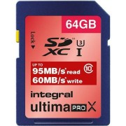 Card de memorie Integral INSDX64G10-95/60U1, SDXC, 64GB, Clasa 10