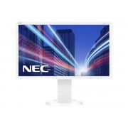 NEC MultiSync E224Wi white 21.5' LCD monitor with LED backlight, IPS panel, resolution 1920x1080, VGA, DVI, DisplayPort, 110 mm height adjustable