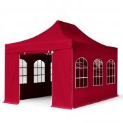 taltpartner.se Snabbtält 3x4,5m PES 400 g/m² röd vattentät