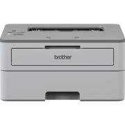 Imprimanta Brother HL-B2080DW, laser alb/negru, A4, 34 ppm, Retea, Wireless + Banda laminata Brother TZe-211, 6mm x 8m (Negru/Alb)