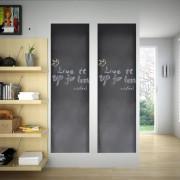 vidaXL Дъска за писане на стена тип стикер, 0,6 x 3м, 2 ролки с тебешири