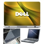FineArts Laptop Skin 15.6 Inch With Key Guard & Screen Protector - Dell World Leader