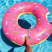 Uppblåsbar Badring Donut