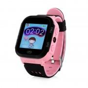 Ceas inteligent pentru copii GW500S Roz cu touchscreen telefon si localizare GPS